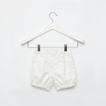 Jacquard Textured Shorts with Elasticated Waist