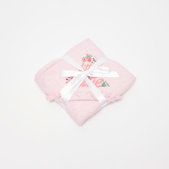 Floral Print Hooded Blanket