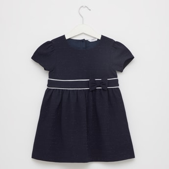 Textured Dress with Short Sleeves
