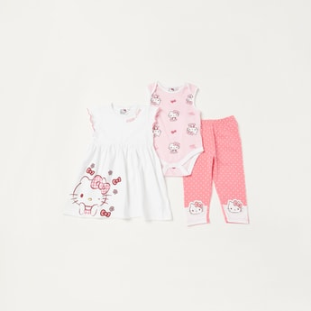 Hello Kitty Graphic Print 3-Piece Clothing Set