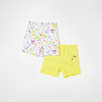 Set of 2 - Assorted Shorts with Elasticated Waistband