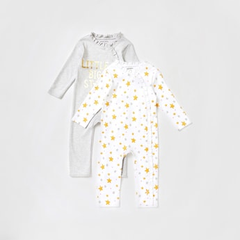Set of 2 - Printed Full-Length Sleepsuit with Ruffle Detail