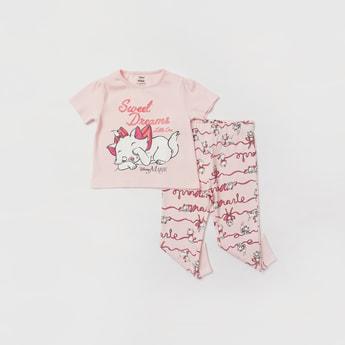 Marie Print Short Sleeves T-shirt and Pyjama Set