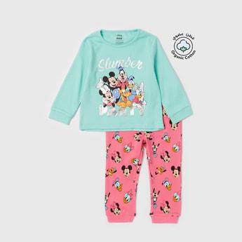 Set of 2 - Mickey Mouse Family Print Sweatshirt and All-Over Print Jog Pants