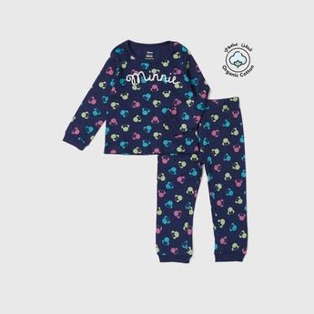 Minnie Mouse Graphic Print T-shirt and Pyjama Set