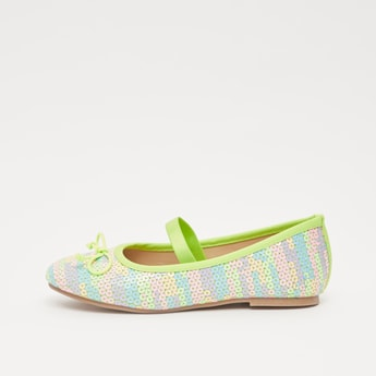 Sequin Detail Shoes with Elasticised Strap
