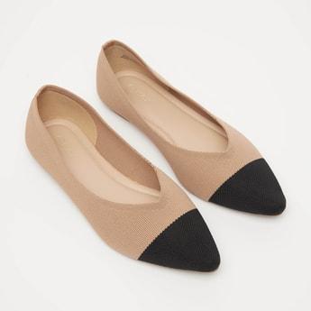 حذاء باليرينا سهل الارتداء بارز الملمس