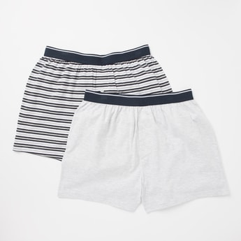 Pack of 2 - Assorted Boxer Briefs with Elasticised Waistband