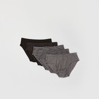 Set of 5 - Assorted Briefs with Elasticated Waistband
