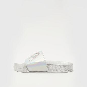 Unicorn Printed Slip-On Slides
