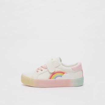 Rainbow Detail Sneakers with Hook and Loop Closure