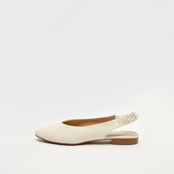 Solid Ballerinas with Elasticised Backstrap