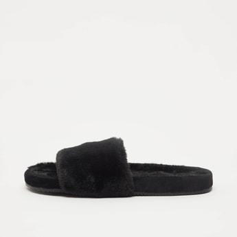 Textured Slip On Bedroom Slippers