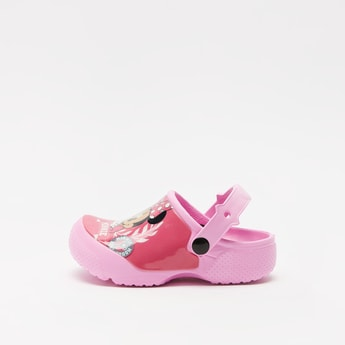 Minnie Mouse Print Slip-On Clogs