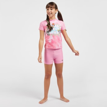 The Powerpuff Girls Print 2-Piece Swimwear Set