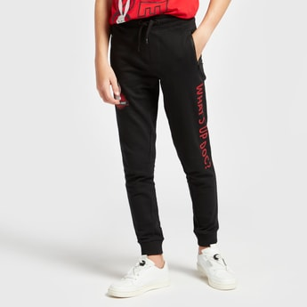 Bugs Bunny Print Jog Pants with Pockets and Drawstring