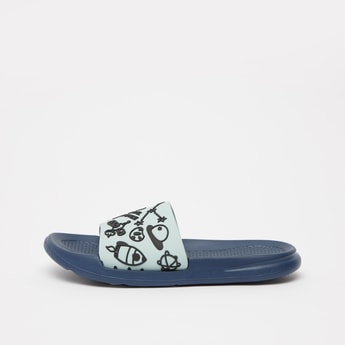 Graphic Patterned Slip On Slides