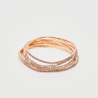 Set of 6 - Embellished Bracelets
