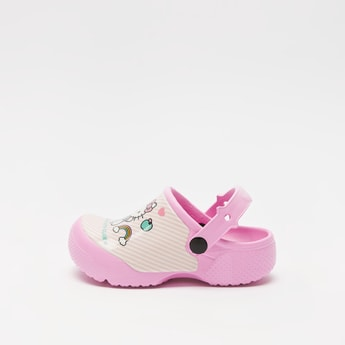 Hello Kitty Print Slip-On Clogs