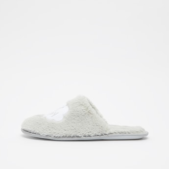 Embroidered Slip On Bedroom Slippers