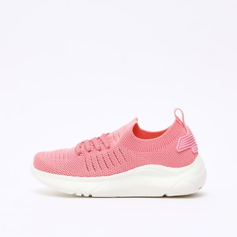 Textured Walking Shoes with Pull Tab