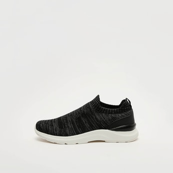 Textured Sneakers with Pull Tab