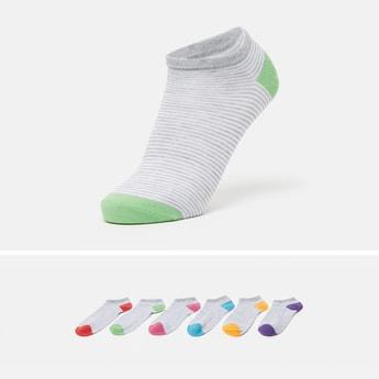Striped Ankle Length Socks - Set of 6