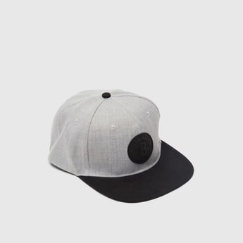 Cap with Contrast Visor and Applique