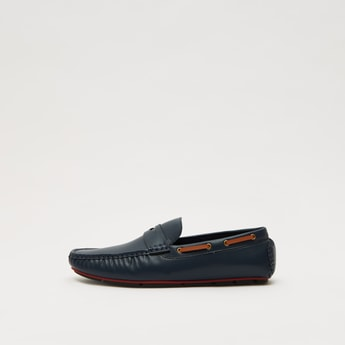 Solid Slip-On Casual Loafers