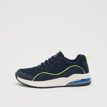 Mesh Detail Sports Shoes with Lace-Up Closure