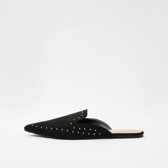 Stud Detail Slip-On Mules