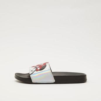 Minnie Mouse Print Slip-On Slides