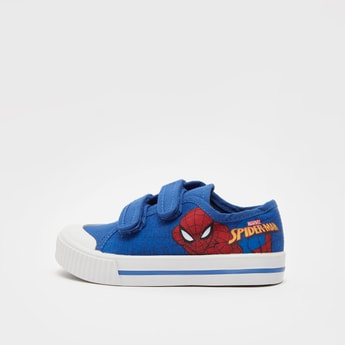 Spider-Man Print Shoes with Hook and Loop Closure
