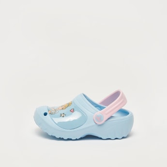Cinderella Print Clogs with Backstrap