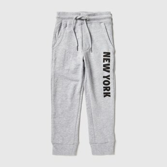 Printed Anti-Pilling Jog Pants with Pockets and Drawstring Closure
