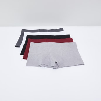 Trunk Briefs with Elasticised Waistband - Set of 5