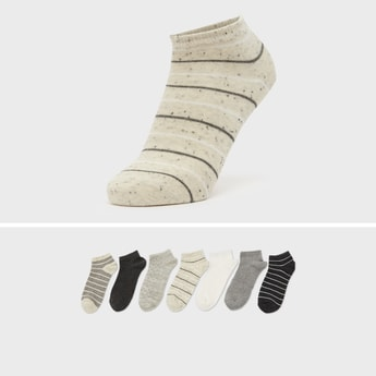 Pack of 7 - Assorted Ankle Length Socks with Cuffed Hem