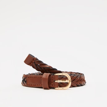 Braided Belt with Pin Buckle Closure