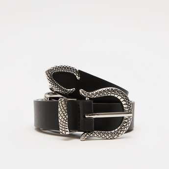 Solid Belt with Double Pin Buckle Closure
