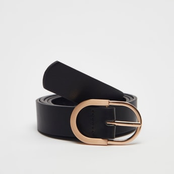 Solid Belt with Metal Pin Buckle