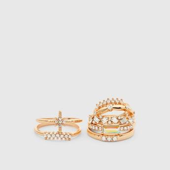 Set of 7 - Embellished Finger Rings