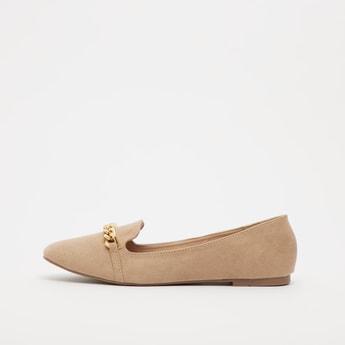 حذاء باليرينا سادة بتفاصيل مزخرفة