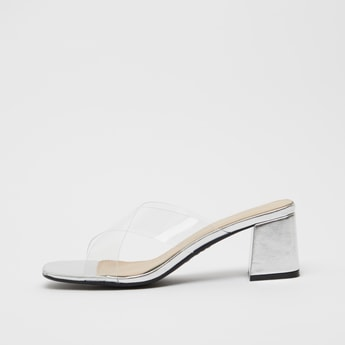 Solid Cross Strap Sandals