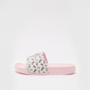 Hello Kitty Print Slides with Vamp Band