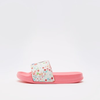 Snow White Print Slides with Vamp Band