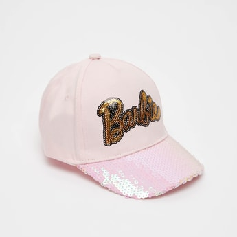 Barbie Embellished Cap with Eyelets and Adjustable Strap