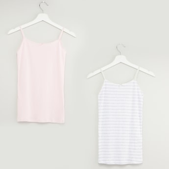 Set of 2 - Sleeveless Camisole with Bow Applique