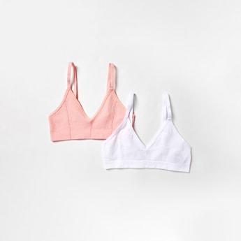 صدرية بدون خياطة مضلعة غير مبطنة مع أشرطة قابلة للتعديل - طقم من قطعتين