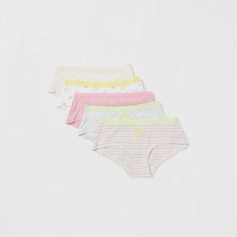 سراويل بوي شورت بطبعات فواكة- طقم من 5 قطع