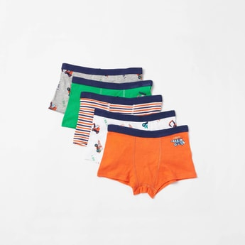 Set of 5 - Assorted Trunk Briefs with Elasticised Waistband